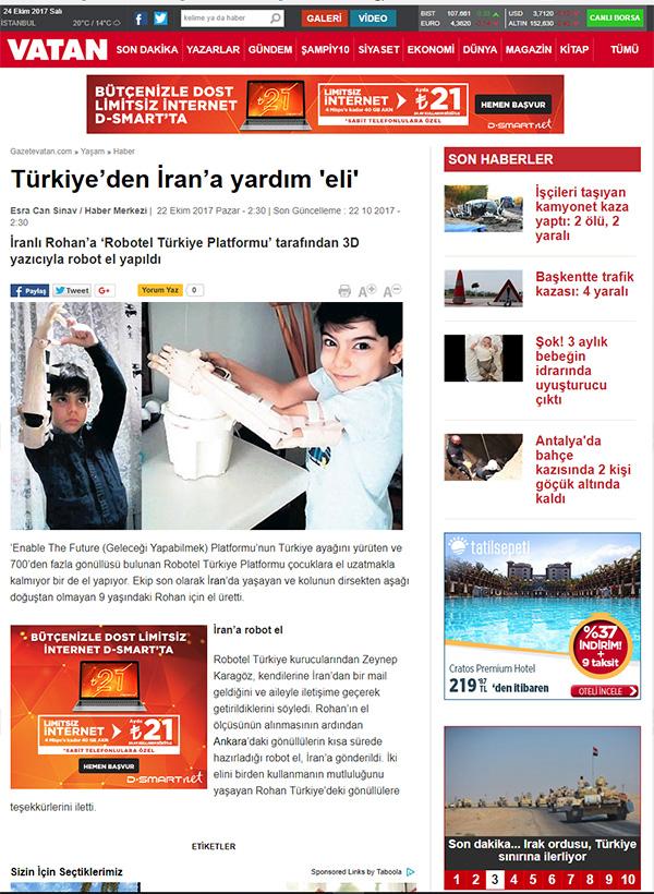 Roham'ın Roboteli Vatan Gazetesinde
