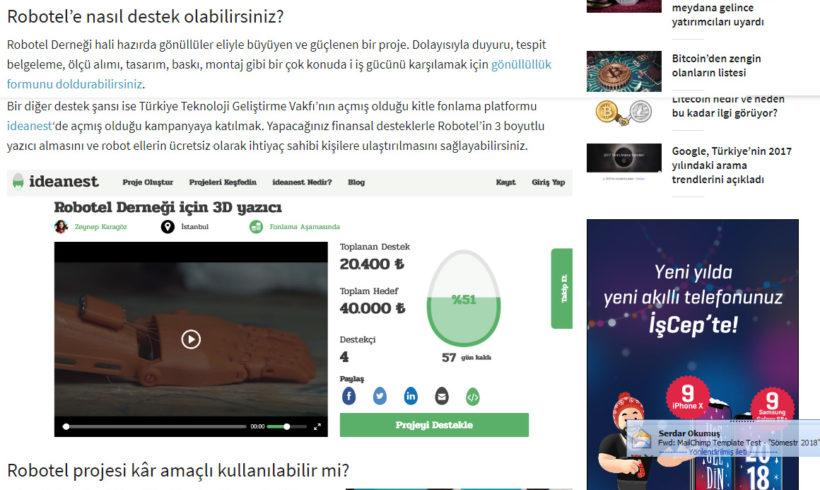 Robotel Türkiye haberi Webrazzi'de!