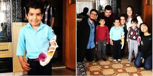 Konya'dan Ömer Enes'e Robotel Ankara ekibi robot elini teslim etti!