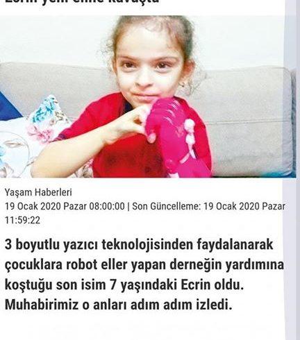 Son vakalarımızdan Ecrin'in #Elsa #Robotel Hikâyesi @itu_ieee ekibinin eşliğinde bugün @gunes_gazetesi haberinde gazetede!