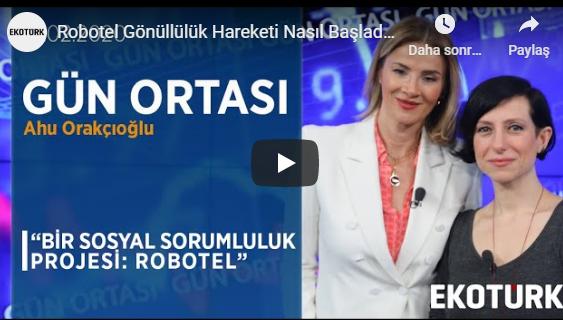 Kurucularımızdan Zeynep Karagöz konuk olarak @Ekoturktv ekranında @ahuorakcioglu ile #SosyalFayda için #Teknoloji #3dprint #Robotel konuştu.