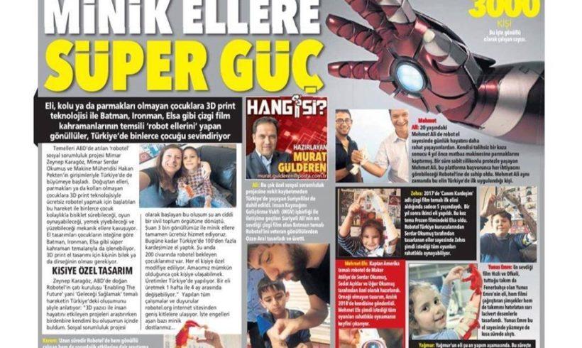 #Robotel hikayesini Posta Gazetesinde